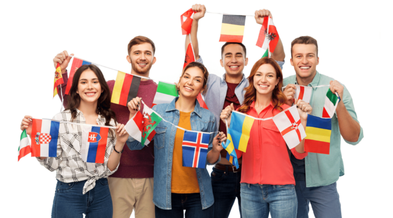 ESL Teachers from with different country flags